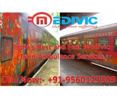 Get Emergency Medivic Aviation Train Ambulance in Delhi Anytime with Medical Team