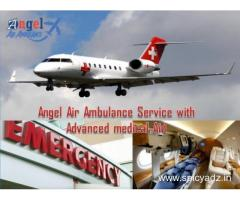 Get Angel Air and Train Ambulance in Bhopal for Serious ICU Patient Transfer