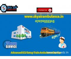 Get Train Ambulance Service in Mumbai with Commercial Stretcher