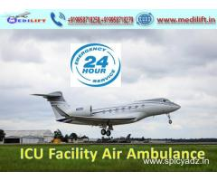Medilift Air Ambulance Service in Dubai with Doctor Team