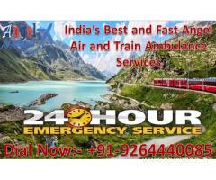 Avail Best Emergency Air and Train Ambulance in Dimapur with ICU Facility