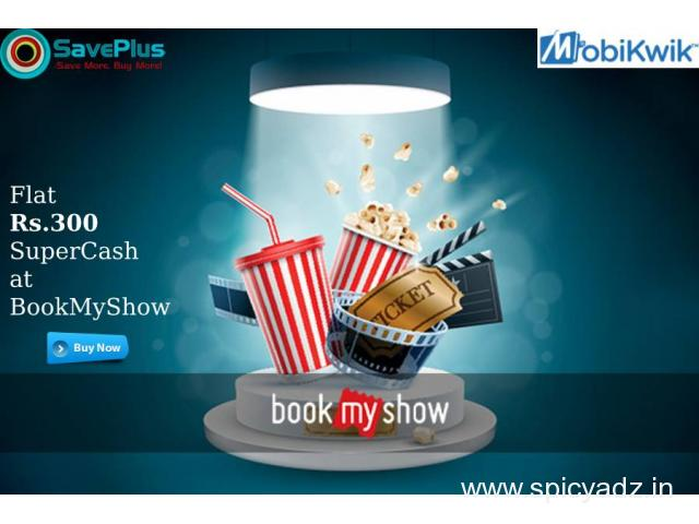 Flat Rs.300 SuperCash at BookMyShow - 1
