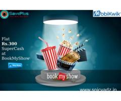 Flat Rs.300 SuperCash at BookMyShow