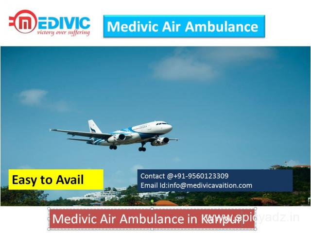 Economical Air Ambulance Service in Kanpur by Medivic Aviation