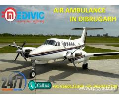Take Life Support ICU Care Air Ambulance in Dibrugarh by Medivic