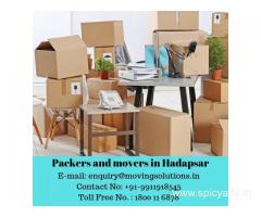 Hire Leading Movers and Packers in Hadapsar and Save Upto 15% with Movingsolutions.in