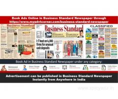 Advertisement in Business Standard Newspaper