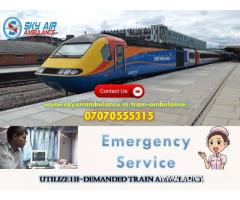 Obtain Trustful Patient Shifting in Mumbai by Sky Train Ambulance