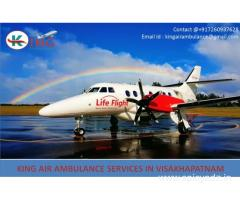 Hire Affordable Air Ambulance Services in Visakhapatnam by King