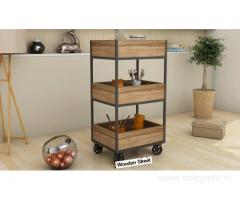 Kitchen Trolley | Wooden Kitchen Trolleys Online at Upto 55% OFF- WoodenStreet