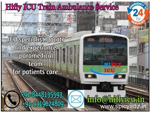 Get More Reliable Train Ambulance in Delhi by Hifly ICU