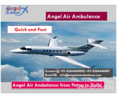 Best and Very Low Cost Angel Air and Train Ambulance in Patna, Bihar