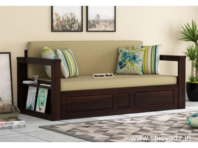 Select the best and Trendy sofa come beds in Mumbai @ Wooden Street