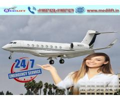 Pick Low-Fare Air Ambulance Service in Bagdogra by Medilift