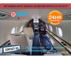 Pick Medivic Air Ambulance Service in Indore  with maximum facility
