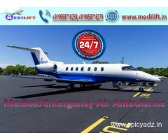 Hire Superior Emergency Air Ambulance in Kolkata with Doctor