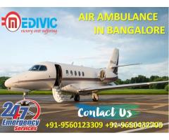 Take Well Maintained Medivic Air Ambulance Service in Bangalore at Low Fare