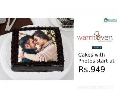 Cakes with Photos start at Rs.949