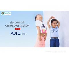 Flat 20% Off Orders Over Rs.2999
