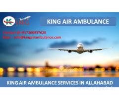 Top Level Air Ambulance Services from Allahabad by King