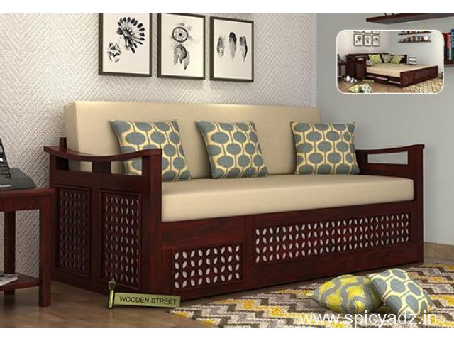 Browse amazing L Shaped Sofa Designs for living room at Wooden Street