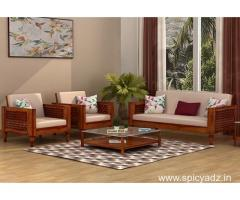 Trendy and latest wooden sofa designs At Wooden Street