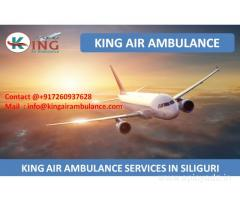 Hire King Air Ambulance Services in Siliguri with Complete ICU Facility