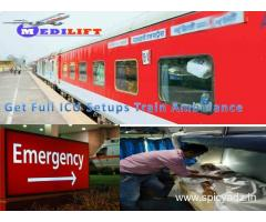 Use Medilift Low-Cost Train Ambulance from Patna to Delhi with Doctor