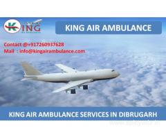 Get Quick Air Ambulance Services from Dibrugarh by King