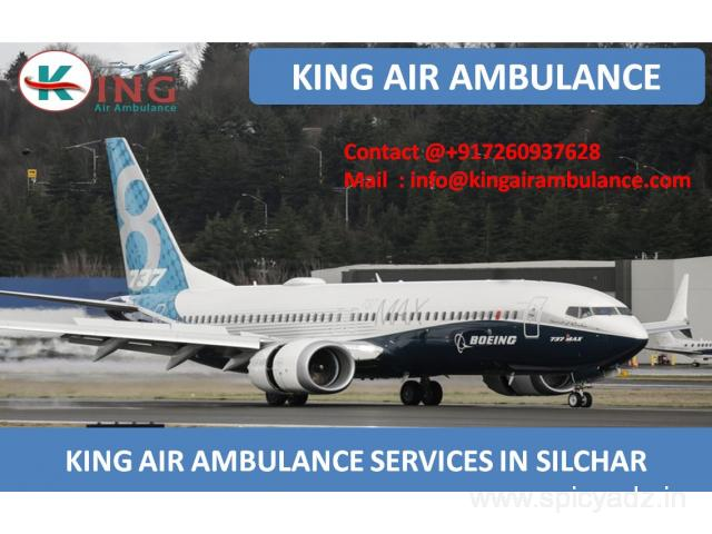 Hire King Air Ambulance Services in Silchar with Medical Team