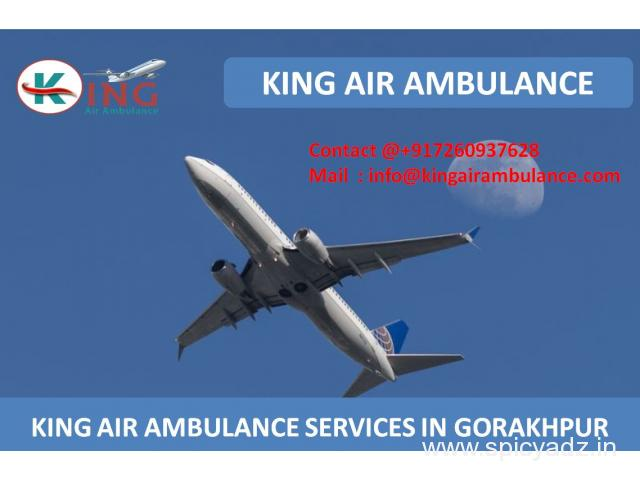 Get King Air Ambulance Service in Gorakhpur with Medial Team
