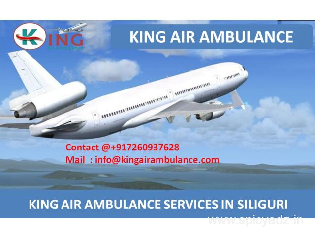 Best Air Ambulance Services in Siliguri by King
