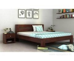 Latest collection of wooden queen size beds at Wooden Street