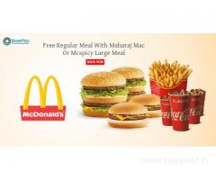 Free Regular Meal With Maharaj Mac Or Mcspicy Large Meal