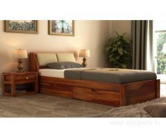 Buy wooden bed with or without storage online @ Wooden Street