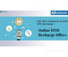 Flat 50% Cashback on First DTH Recharge