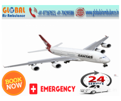 Global Air Ambulance from Delhi with specialized doctors for emergency help