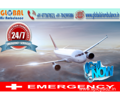 Global Air Ambulance in Guwahati with the advance life-support system