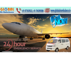 Life-support system and MD doctors during transportation from Global Air Ambulance in Mumbai