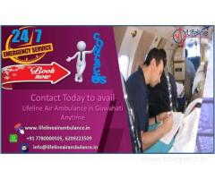 Lifeline Air Ambulance in Guwahati Medical Services is Unparalleled