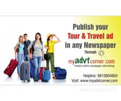 Travel Ads in Newspaper | Tourism Ad Booking Online