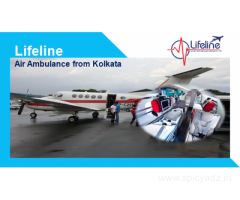 Lifeline Air Ambulance in Kolkata Provide Action-oriented Professionals Onboard
