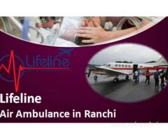 Lifeline Air Ambulance in Ranchi Assist Critical Patient from the Doorstep