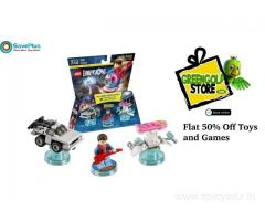 Flat 50% Off Toys and Games