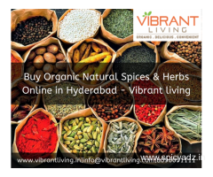 Buy Organic Natural Spices & Herbs Online in Hyderabad - Vibrant living