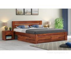 Awesome discount of upto 55% on double beds - Wooden Street