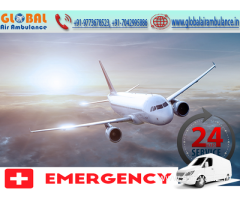 Call to life call Global Air Ambulance in Guwahati with best emergency facilities