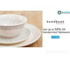 RangRage Coupons, Deals & Offers: Get Up to 50% Off Handprinted Tableware