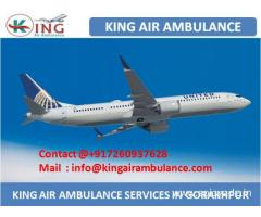 Get Quality Air Ambulance in Gorakhpur at Low Cost by King