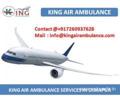 Get King Air Ambulance Service in Dimapur with Medical Support